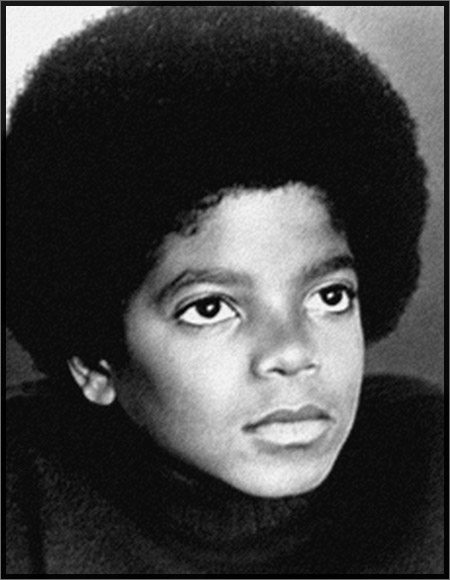 Michael Jackson around 13 with nose retouched by Motown publicity dept